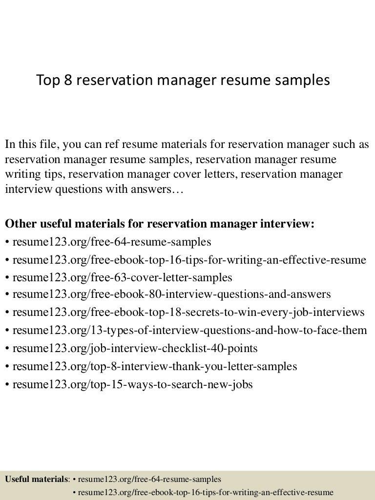 Cover Letter Sample Resume For Hotel Manager Sample Resume For