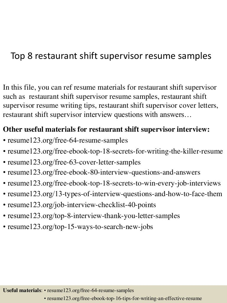 Nice Professional Bar Supervisor Templates To Showcase Your Talent