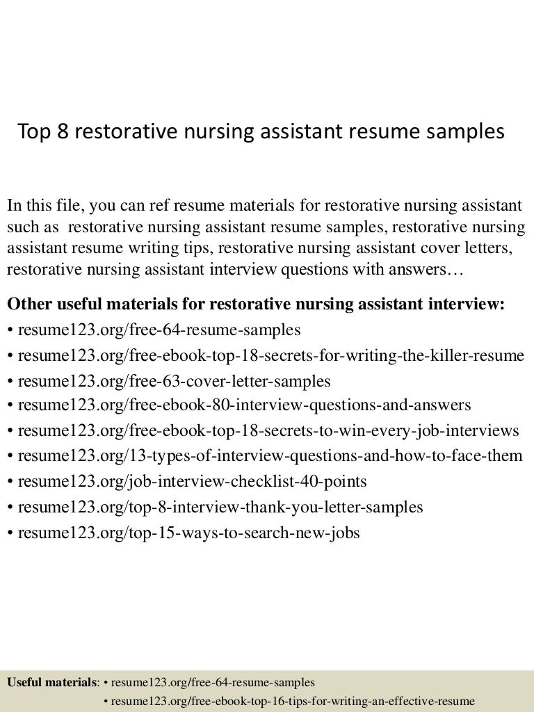 cna resume sample com top8restorativenursingassistantresumesamples 150529140142 lva1 app6892 thumbnail 4 jpg cb 1432908440