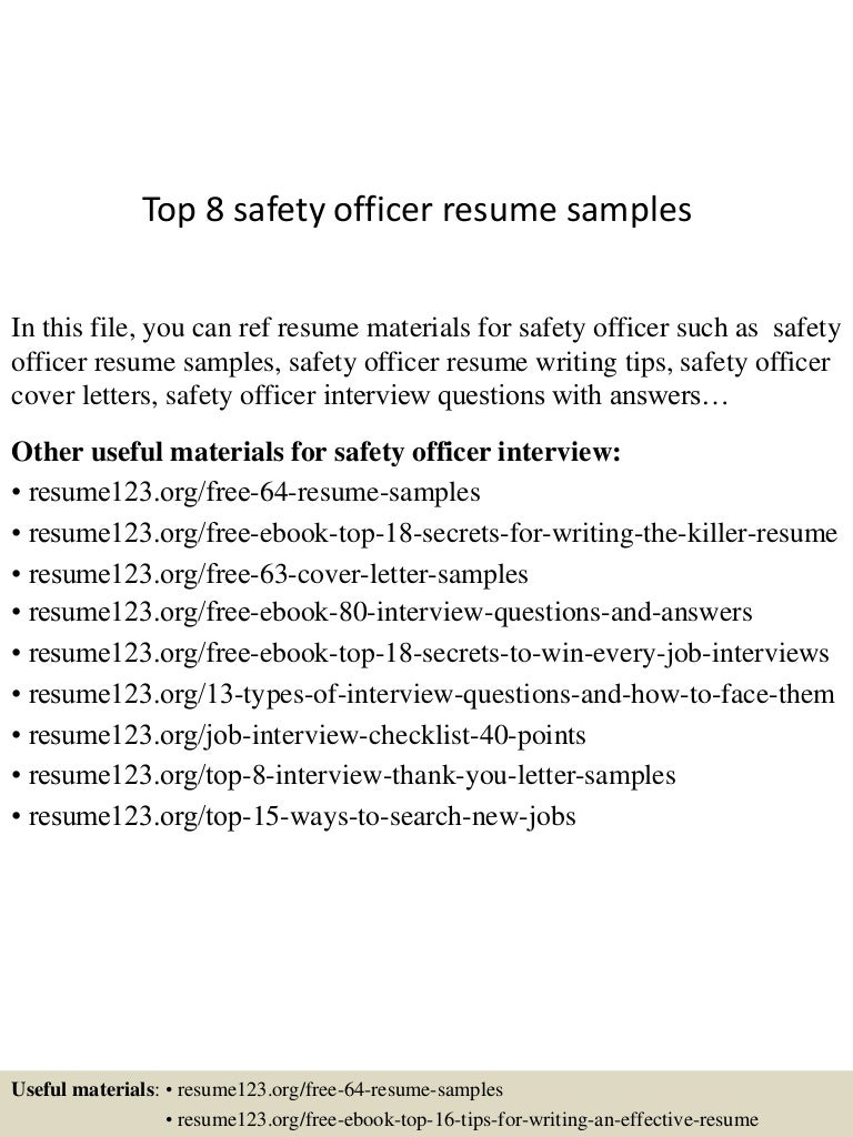 workplace health and safety officer resume top health and safety officer resume samples top health and safety officer resume samples