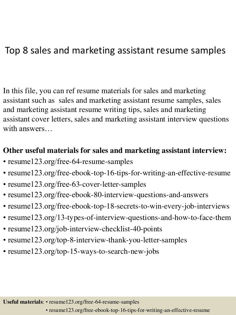 top sandmarketingassistantresumesamples conversion gate thumbnail jpg cb