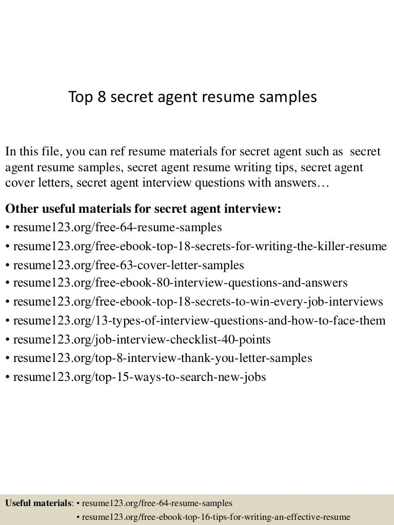 Marvelous Example Cover Letters For Special Agent ...