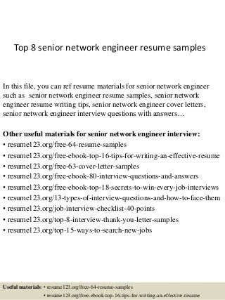 wireless network engineer resumes