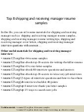 Top8shippingandreceivingmanagerresumesamples 150514055925 Lva1 App6892 Thumbnailcb1431583210