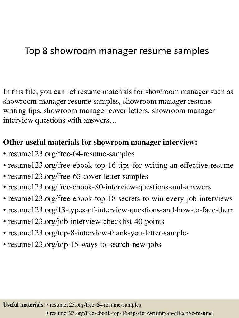 top8showroommanagerresumesamples 150410093941 conversion gate01 thumbnail 4jpgcb1428676830 - Fashion Showroom Manager Sample Resume