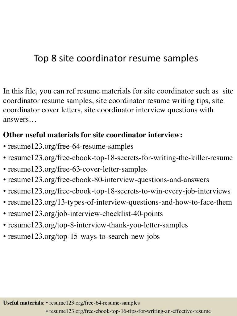 top8sitecoordinatorresumesamples 150426210148 conversion gate01 thumbnail 4jpgcb1430100160 - Resume Site