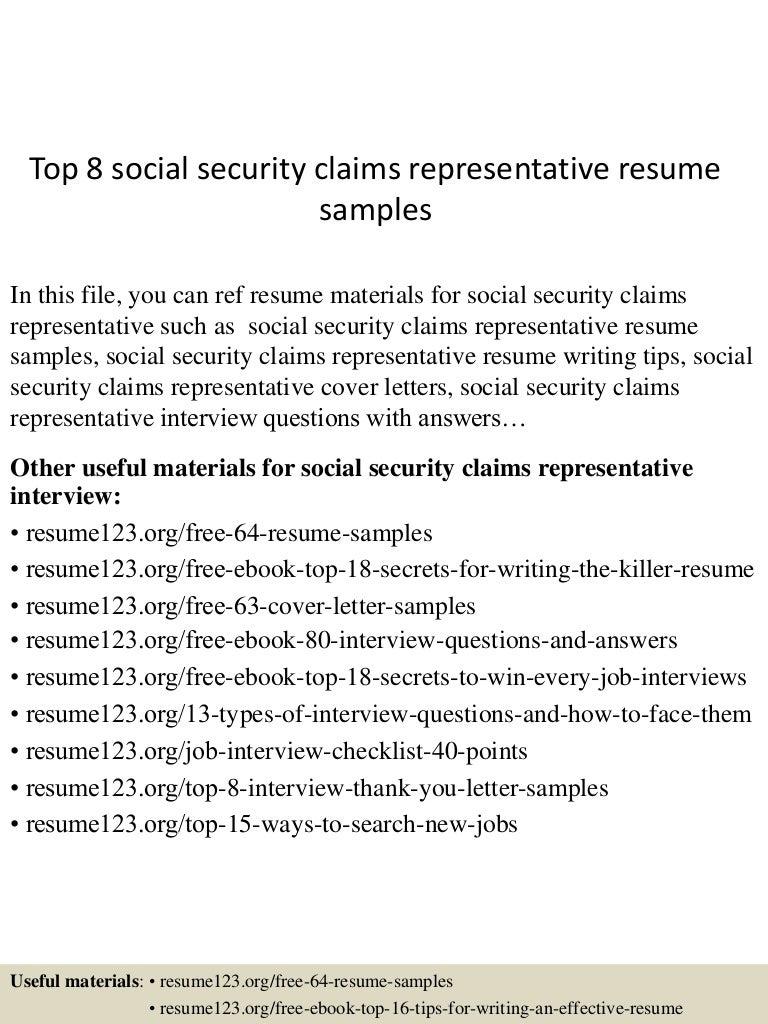 topsocialsecurityclaimsrepresentativeresumesamples lva app thumbnail jpg cb