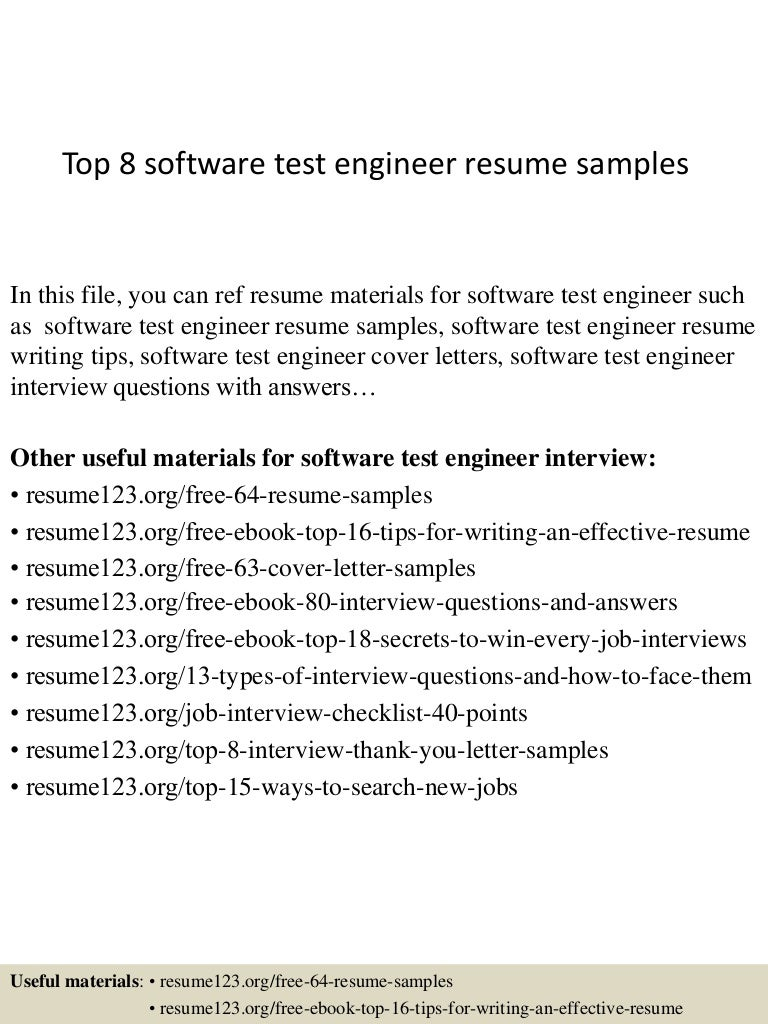 best resume format for experienced software test engineers top8softwaretestengineerresumesamples 150410084241 conversion gate01 thumbnail 4 best resume - Microsoft Test Engineer Sample Resume