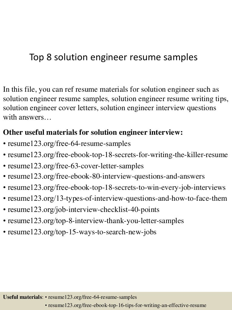 top8solutionengineerresumesamples 150520132459 lva1 app6892 thumbnail 4 jpg cb 1432128342