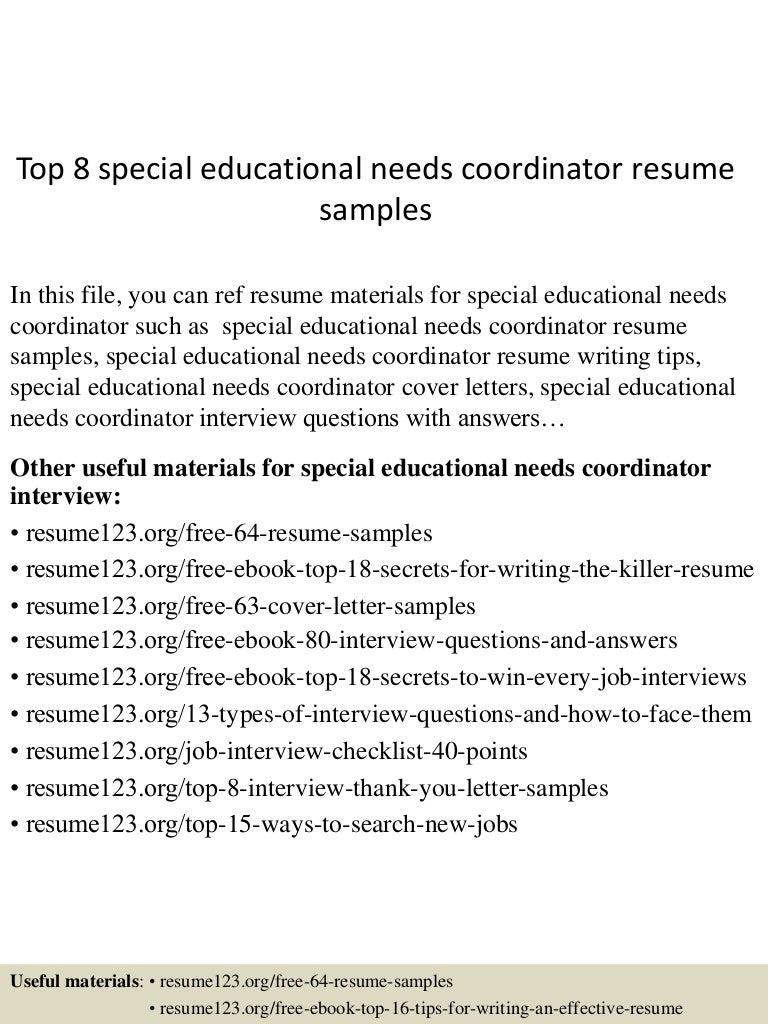 topspecialeducationalneedscoordinatorresumesamples lva app thumbnail jpg cb