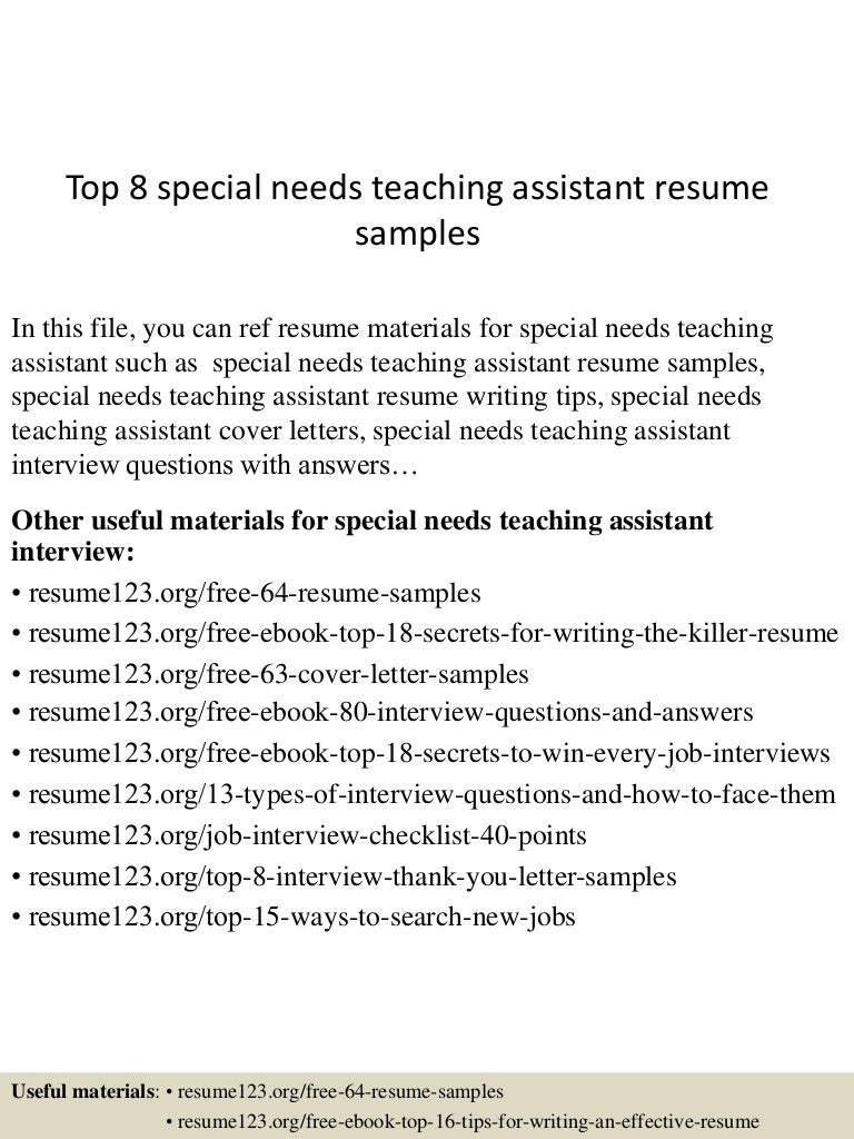 resume teaching assistant - Cover Letter For A Teaching Assistant Job
