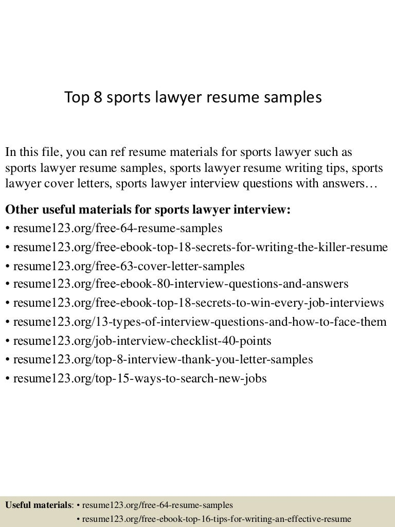 top8sportslawyerresumesamples150723091305lva1app6891thumbnail4jpgcb 1437642835 – Lawyer Resume Cover Letter