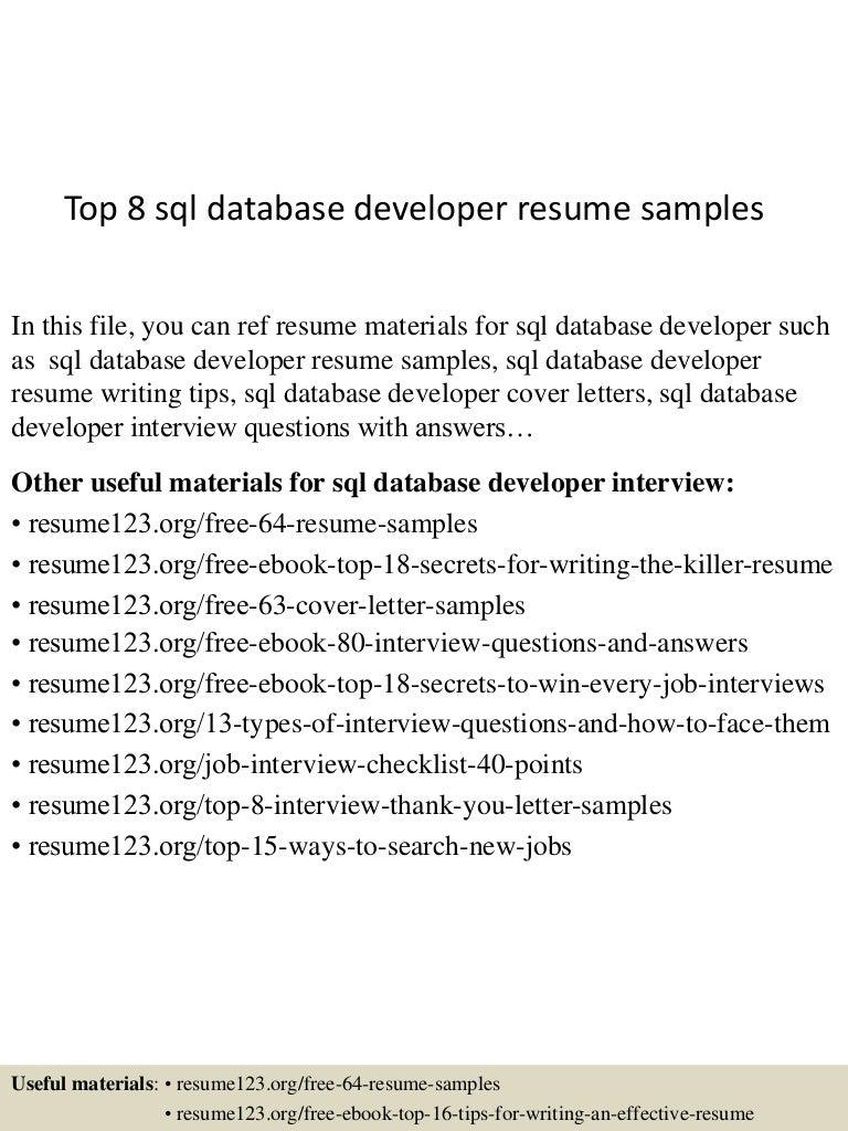 Resume Sql Server Developer Cover Letter Template Sql Resumes Oyulaw Entry  Level Java Developer  Sql Resume