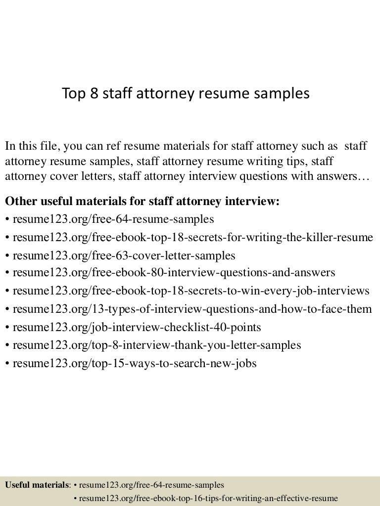 Top 8 staff attorney resume samples