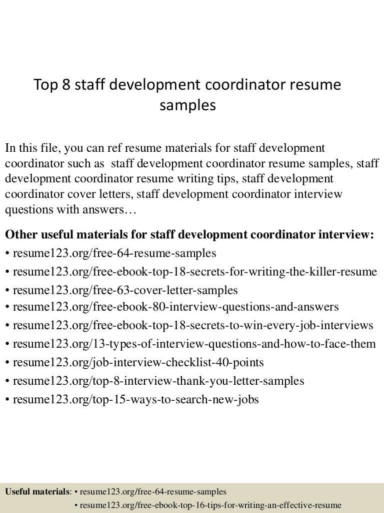 staffing coordinator resume office coordinator resume payroll top8staffdevelopmentcoordinatorresumesamples 150513140808 lva1 app6892 thumbnail 4 staffing - Staffing Coordinator Resume