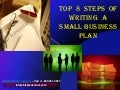 Top 8 steps of writing a small business plan