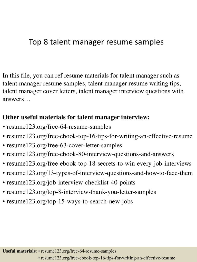 Talent Acquisition Manager Resume - Youtuf.com
