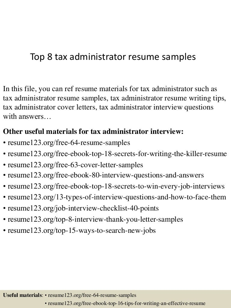 tax compliance officer sample resume paralegal resume objective top8taxadministratorresumesamples 150516155240 lva1 app6892 thumbnail 4 top 8 tax administrator resume samples tax compliance officer sample resume