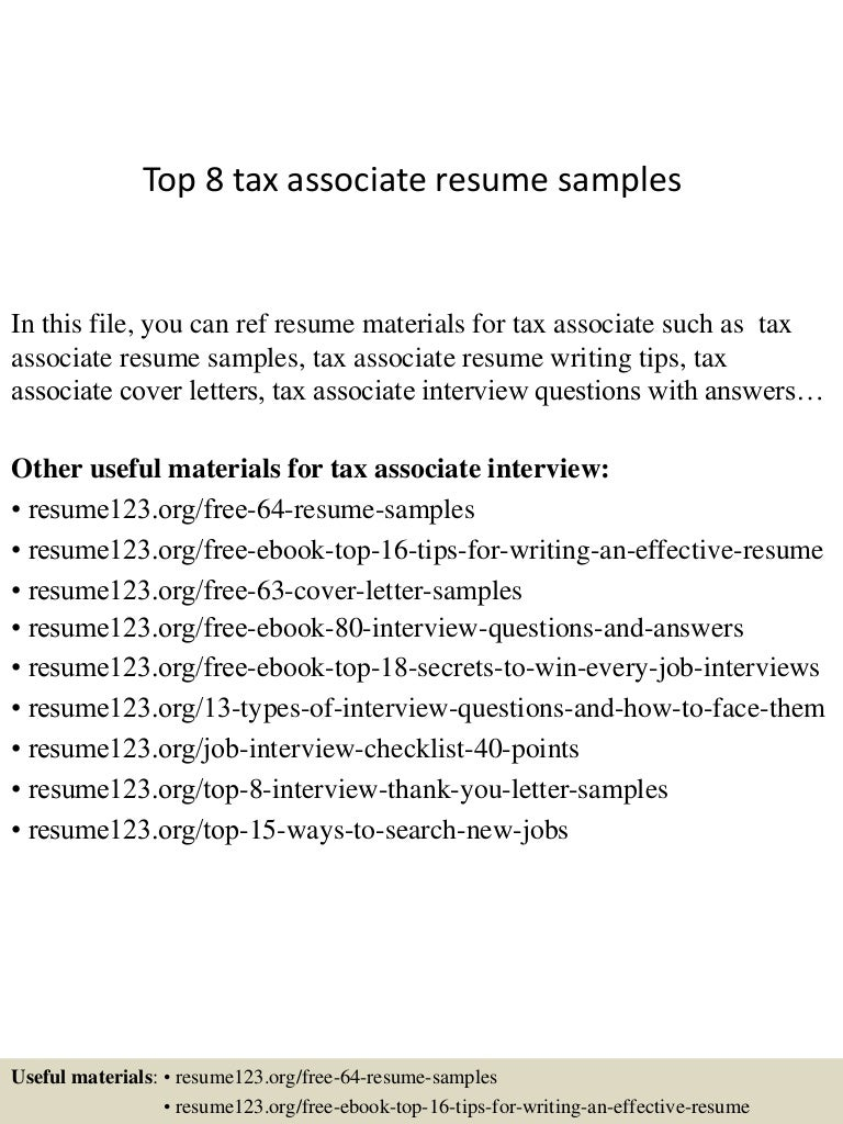 top8taxassociateresumesamples 150410041955 conversion gate01 thumbnail 4jpgcb1428657642 tax resume sample