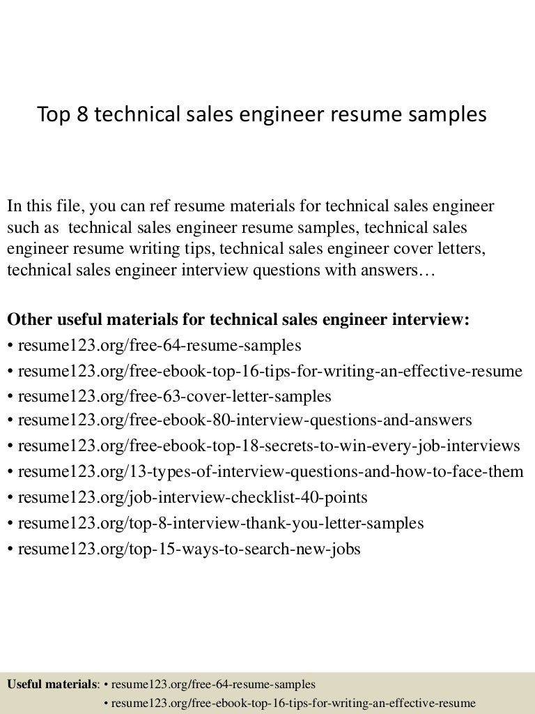 technical sales engineer sample resume example of a good - Rf Design Engineer Sample Resume