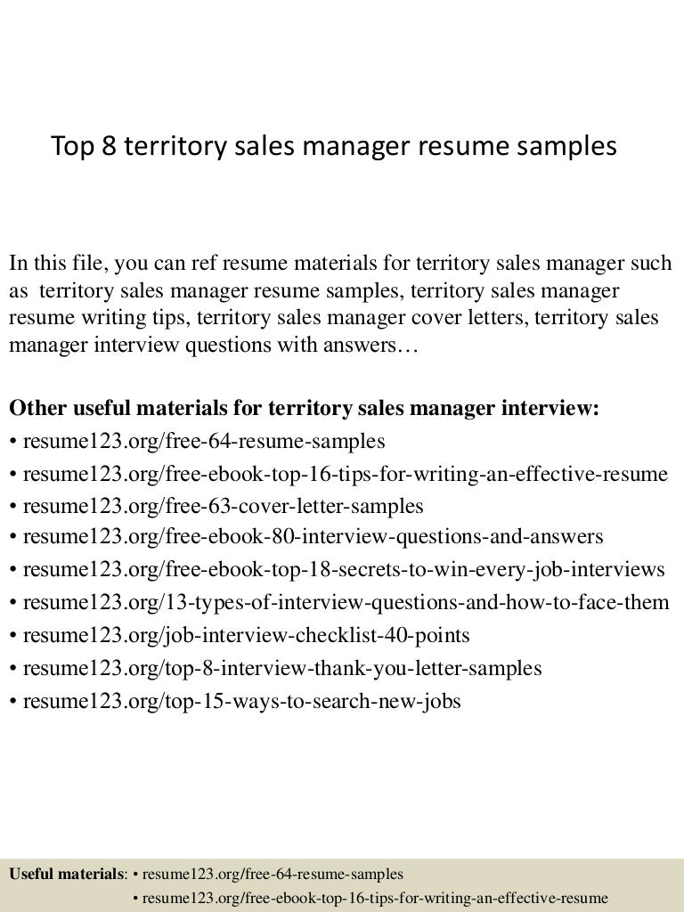 top8territorysalesmanagerresumesamples150408062743conversiongate01thumbnail4jpgcb 1428492506 – Sample Territory Sales Plan