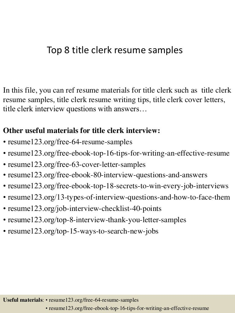 resume titles samples toptitleclerkresumesamples conversion gate thumbnail