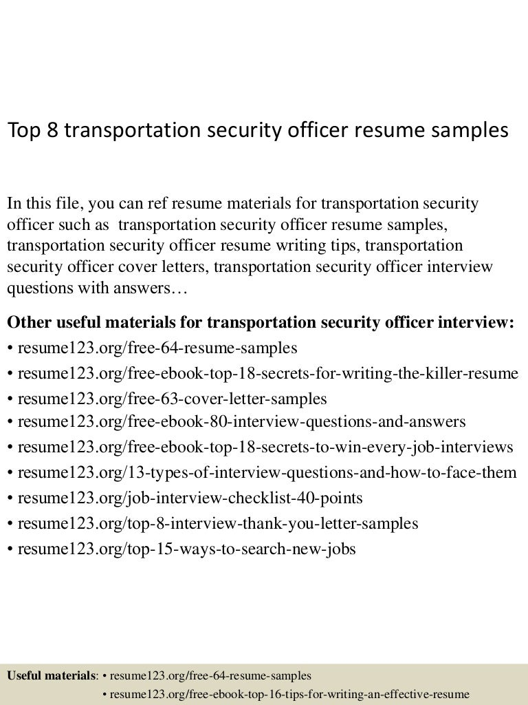 security guard resume sample job and resume template - Resume Samples For Job