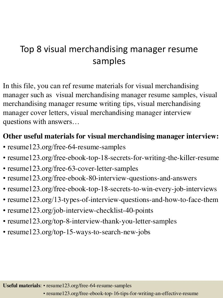 resume Visual Merchandising Manager Resume top8visualmerchandisingmanagerresumesamples 150521073845 lva1 app6892 thumbnail 4 jpgcb1432193947