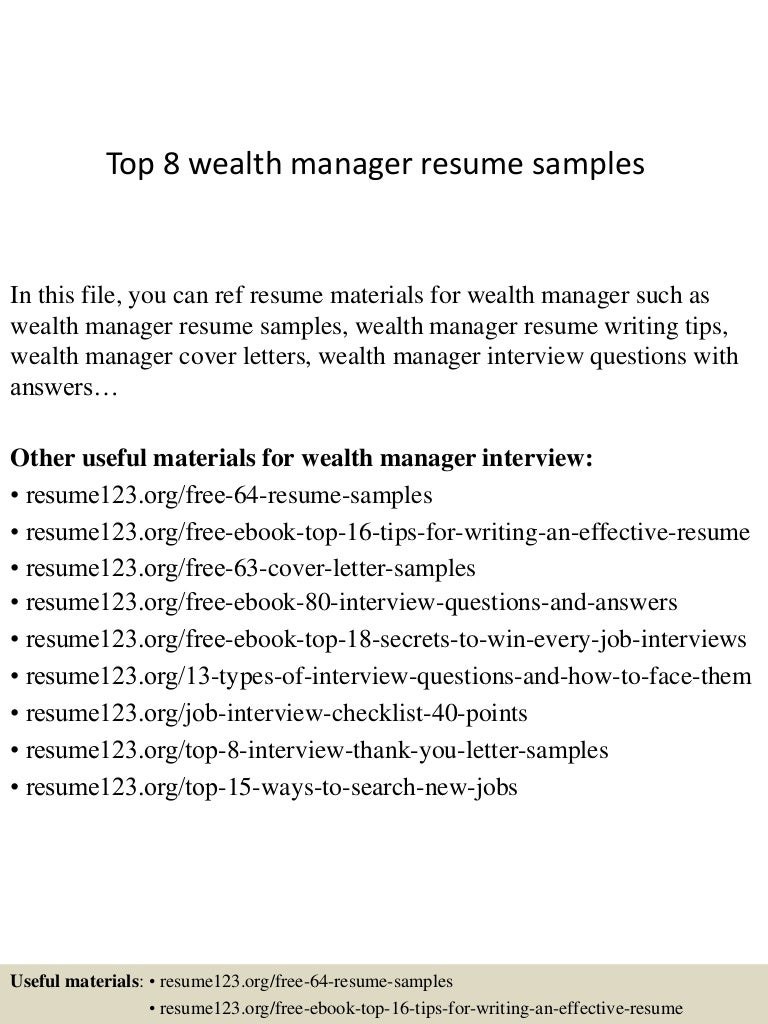 top8wealthmanagerresumesamples 150410094359 conversion gate01 thumbnail 4 jpg cb 1428677091