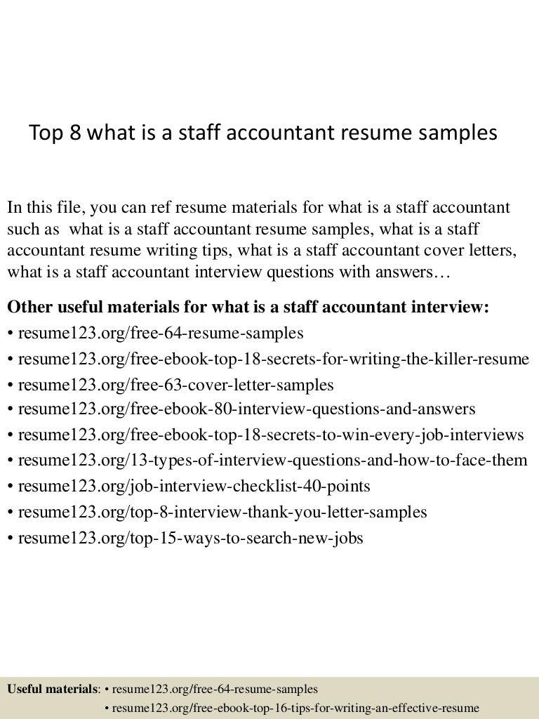 staff accountant resume sample