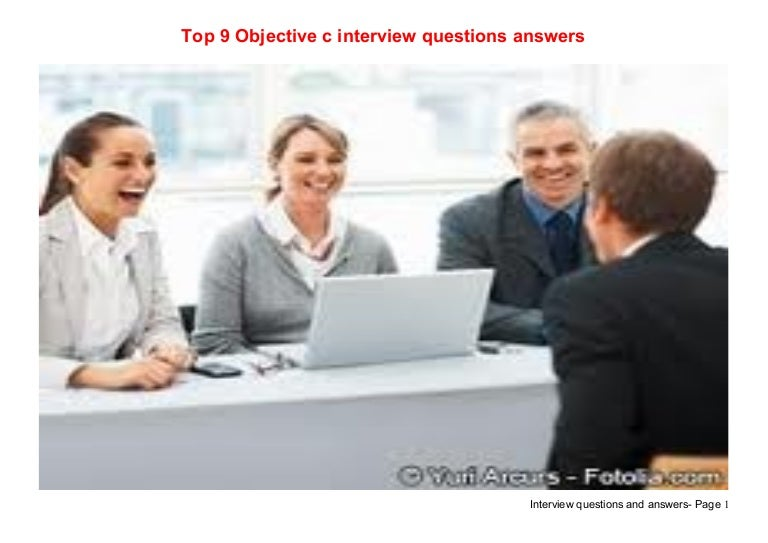 Top 9 objective c interview questions answers
