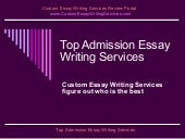 Top essay writing services admission