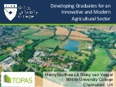 Developing graduates for an innovative and modern agricultural sector
