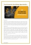 Top Automotive Franchising Opportunities