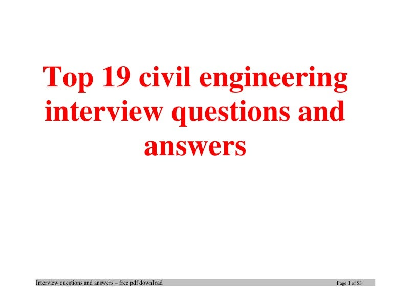 Top 19 civil engineering interview questions and answers pdf ebook fr fandeluxe Gallery