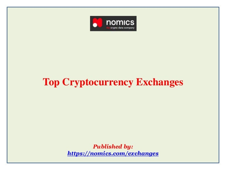 the top cryptocurrency exchanges