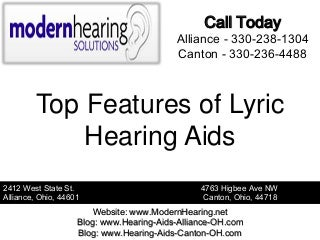 Top Features of Lyric Hearing Aids