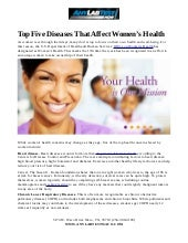 Top Five Diseases That Affect Women's Health