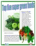Top five super green foods