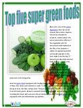 Top five super green foods