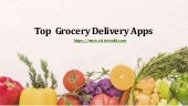 Top  grocery delivery apps