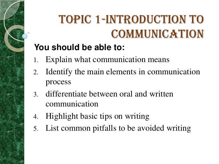 introduction to communication Introduction to electronics communications the field of electronics can be roughly divided into three major subfields, computers, communications and control.
