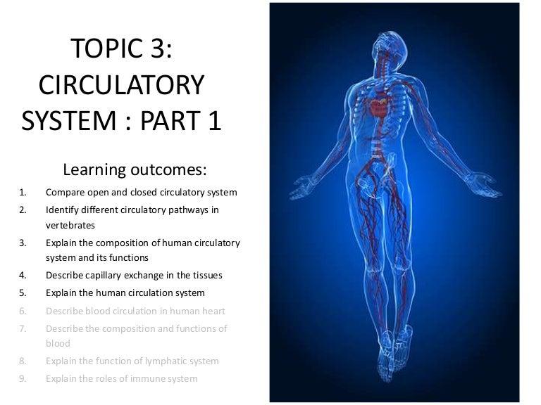Topic 3 Circulatory System Part 1
