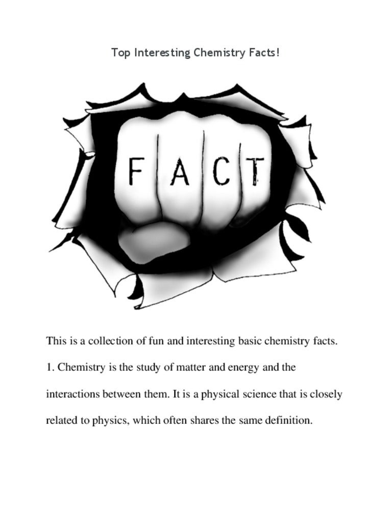 Top interesting chemistry facts