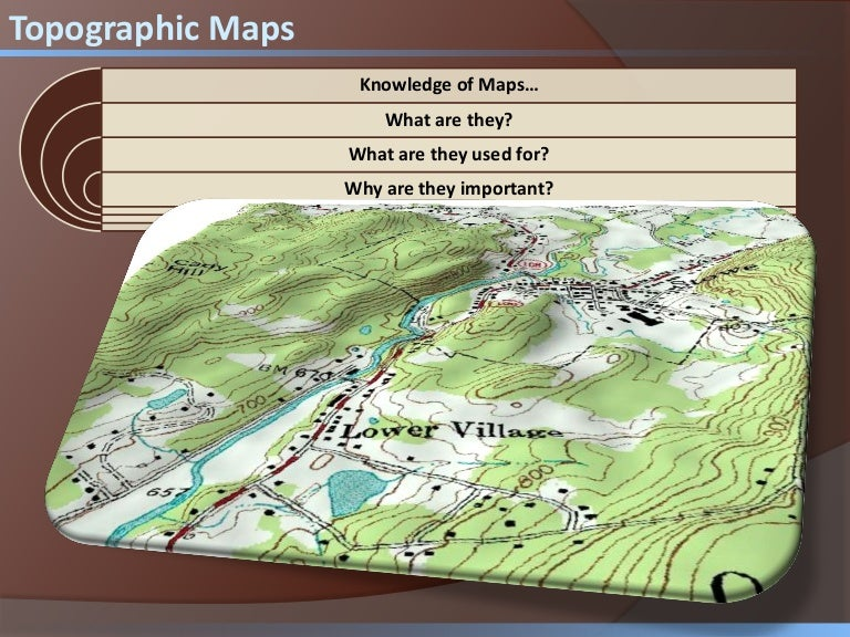 topographic map presentation