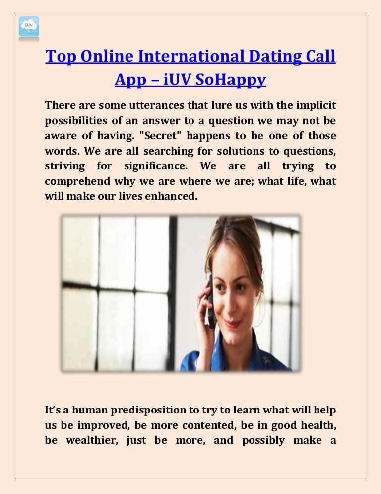 Online international dating app