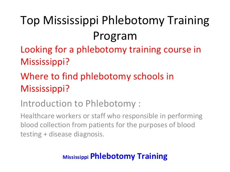 Top Phlebotomy Training In Mississippi Schoolsclasses And Course R