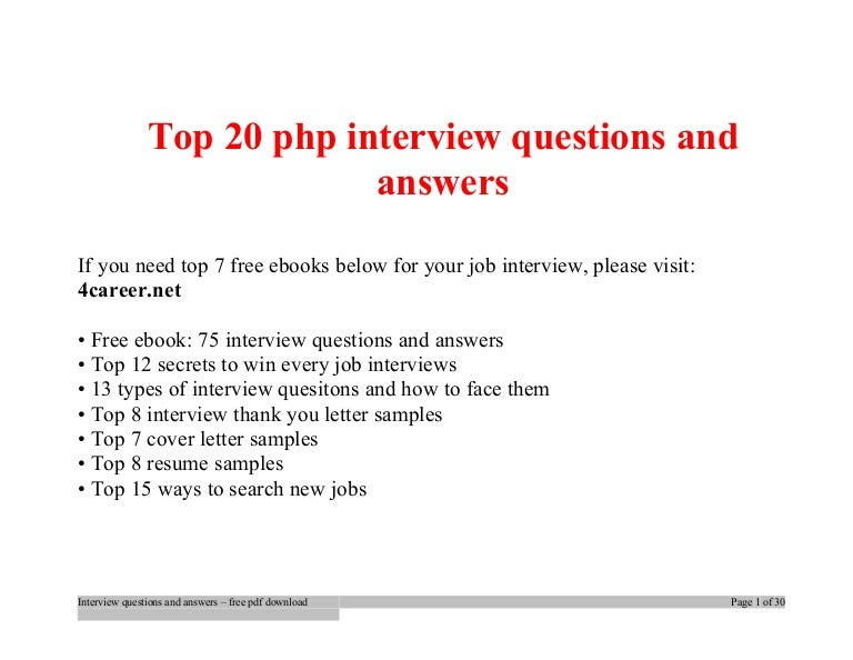 top php interview questions and answers job interview tips