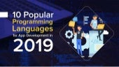 10 Popular Programming Languages for App Development in 2019