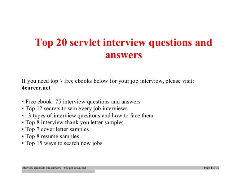 Top servlet interview questions and answers job interview tips